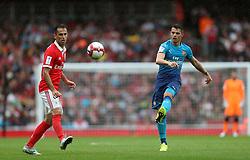 29 July 2017 London : Emirates Cup - Arsenal v Benfica - Granit Xhaka of Arsenal passes the ball.<br /> Photo: Mark Leech