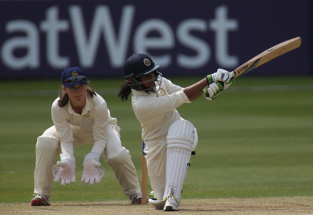 Rest of the World's Shashikala Siriwardene (Sri Lanka)<br /> <br /> <br /> Photographer Kieran Galvin/CameraSport<br /> <br /> Womens International Cricket - MCC Women v Rest of the World Women - Monday 19th May 2014 -  Lord's - London<br /> <br /> © CameraSport - 43 Linden Ave. Countesthorpe. Leicester. England. LE8 5PG - Tel: +44 (0) 116 277 4147 - admin@camerasport.com - www.camerasport.com