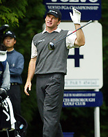 Photograph: Scott Heavey<br />Volvo PGA Championship At Wentworth Club. 25/05/2003.<br />Nick Faldo gets frustrated at the 4th.