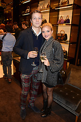 TEDDY CROW and ALESSA DUPONT at a party hosted by Gucci & Clara Paget to drink a new cocktail 'I Bamboo You' held at Gucci, 34 Old Bond Street, London on 16th October 2013.