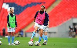 Jill Scott of Manchester City Women warms up - Mandatory by-line: Nizaam Jones/JMP - 29/08/2020 - FOOTBALL - Wembley Stadium - London, England - Chelsea v Manchester City - FA Women's Community Shield