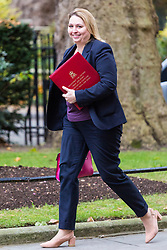 London, October 31 2017. Secretary of State for Culture, Media and Sport Karen Bradley attends the UK cabinet meeting at Downing Street. © Paul Davey
