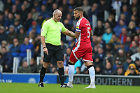 Football - 2019 / 2020 Sky Bet League One - Portsmouth vs. Gillingham<br /> <br /> Referee Graham Salisbury started the first half in all black and changed to bright yellow for the second half at Fratton Park <br /> <br /> COLORSPORT/SHAUN BOGGUST