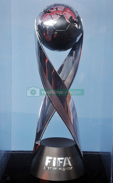 """August 30, 2017 - Kolkata, West Bengal, India - The FIFA U17 World Cup 2017 Winners Trophy visit in Kolkata City  on August 30,2017 in India...The trophy tour will cover almost 9,000 km over a period of 40 days between August 17 and September 26.....Fans will be able to see the trophy in the six host cities starting with New Delhi, where India will be playing their group matches. The silverware will be on display in the capital city from August 17 to 22.....Guwahati will be next stop August 24-29 followed by Kolkata, which will host the final, between August 31 to September 5.  Fans in Mumbai will get to set their sight on the trophy between September 6 and 10, while it is scheduled to be on view in Goa from September 14 to 19.....The final destination will be Kochi where the trophy will reside from September 21 till 26.....Describing the event, Chairman of the LOC Praful Patel said: """"The Trophy Experience will mark the last phase of our event promotion and it is very important, because it will give the fans around the country the opportunity to get up close to the same Official Winner's Trophy that the captain of the winning team of the FIFA U-17 World Cup will be lifting on October 28 in Kolkata.....""""This is a once-in-a-lifetime chance and we hope that people can come in large numbers to the display locations in the host cities.""""....""""This initiative is about bringing the excitement of the FIFA U-17 World Cup Trophy Experience closer to India's fans in the run up to this milestone competition,"""" said FIFA Chief Commercial Officer Philippe Le Floc'h.....""""The trophy embodies both the dreams of the best U-17 players in the world and those of millions of Indian fans who will be hosting the football World Cup in October,"""" he added.....The FIFA U-17 World Cup India 2017 will take place from 6th October to 28th October. (C"""