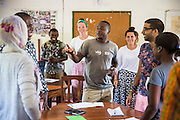 VSO ICS volunteer Nasir Bakari taking part in the ICS ACD at Likotwa school as part of the VSO / ICS Elimu Fursa project (Opportunities in Education) Lindi, Lindi region. Tanzania.