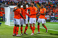 Goal Netherlands forward Quincy Promes (Sevilla) scores a goal and celebrates 3-1during the UEFA Nations League semi-final match between Netherlands and England at Estadio D. Afonso Henriques, Guimaraes, Portugal on 6 June 2019.