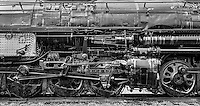 A Big Boy was the name of the Union Pacific Railroad's 4000-class 4-8-8-4 articulated steam locomotives, built between 1941 and 1944 by American Locomotive Company. Train car on exhibit at Steamtown in Scranton PA.