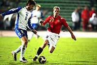 Fotball , 17. oktober 2007 , EM-kvalifisering , Bosnia Herzegovina - Norge 0-2 , <br /> Jan Gunnar Solli , Norge og Branimir Bajic , Bosnia