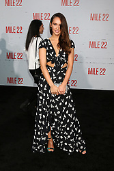Celebrities at the premiere of STX Films' 'Mile 22' at Westwood Village Theatre on August 9, 2018 in Westwood, California. 09 Aug 2018 Pictured: Kristy Dawn Dinsmore. Photo credit: @parisamichelle / MEGA TheMegaAgency.com +1 888 505 6342