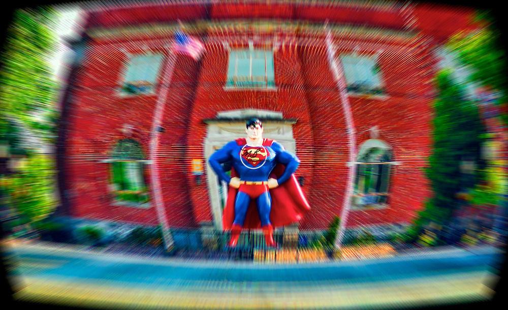 Superman at Metropolis City Hall