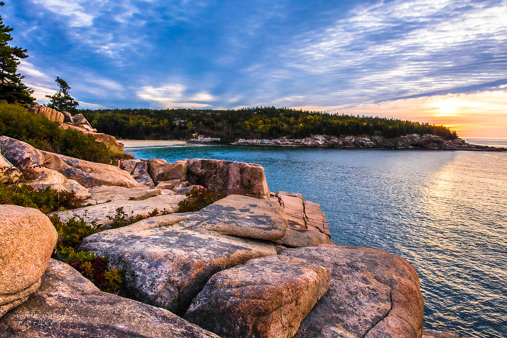 There is no better place to catch a sunrise than Acadia National Park.  One could spend a significant amount of time there and not even come close to capturing all the beauty of the park.<br /> <br /> At Sand Beach in Acadia National Park.