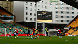 Charlton Athletic's players during the warm up