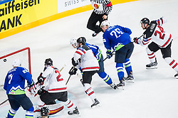 Jan Urbas of Slovenia scoring second goal for Slovenia during the 2017 IIHF Men's World Championship group B Ice hockey match between National Teams of Slovenia and Canada, on May 7, 2017 in Accorhotels Arena in Paris, France. Photo by Vid Ponikvar / Sportida