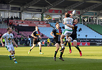Rugby Union - 2020 / 2021 Gallagher Premiership - Round 12 - Harlequins vs Northampton Saints - The Stoop<br /> <br /> Northampton Saints' George Furbank battles for possession with Harlequins' Mike Brown.<br /> <br /> COLORSPORT/ASHLEY WESTERN