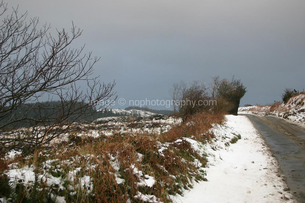 Snow scene, Wicklow, Ireland