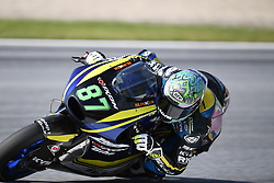 August 12, 2018 - Spielberg, Austria - 87 Australian driver Remy Gardner of Team Tech 3 Racing race during warm up of Austrian MotoGP grand prix in Red Bull Ring  in Spielberg, on August 12, 2018. (Credit Image: © Andrea Diodato/NurPhoto via ZUMA Press)