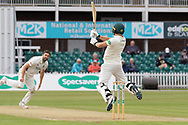 George Rhodes batting during the Specsavers County Champ Div 2 match between Leicestershire County Cricket Club and Northamptonshire County Cricket Club at the Fischer County Ground, Grace Road, Leicester, United Kingdom on 11 September 2019.