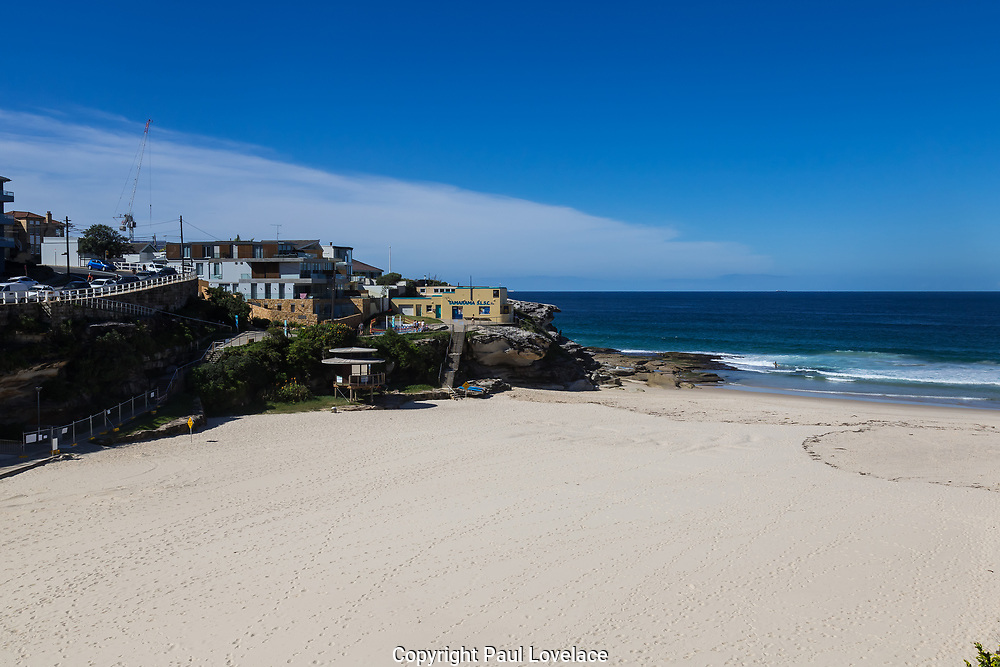 Sydney, Australia. Saturday 18th April 2020.Tamarama Beach in Sydney's eastern suburbs closed due to the Coronavirus Pandemic. From yesterday Tamarama beach was reopened for swimming and surfing.