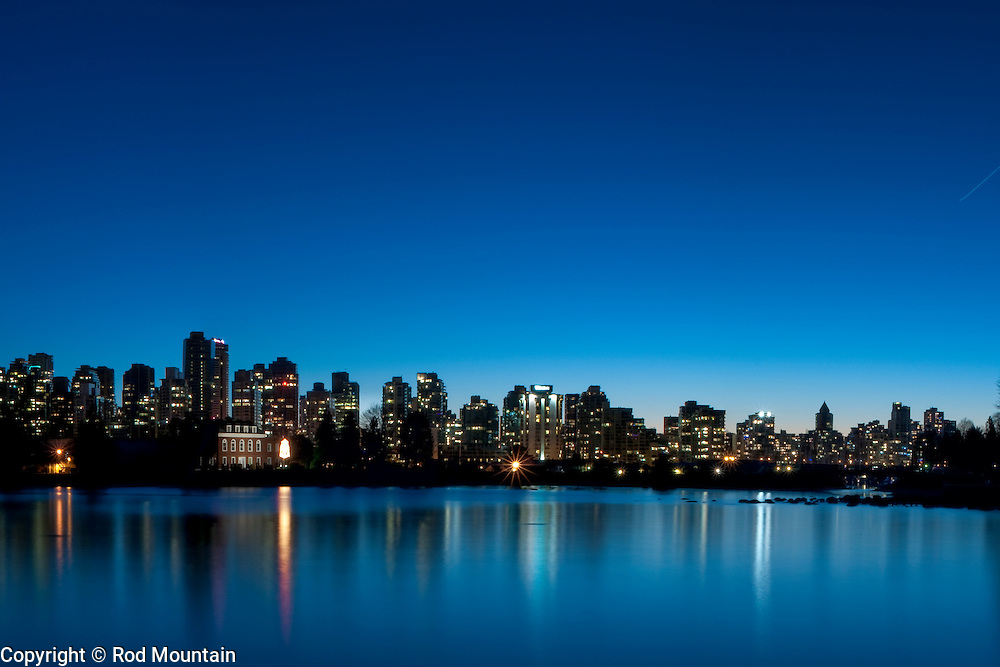 Cityscape of downtown Vancouver, British Columbia taken at sunset. Photo: © Rod Mountain<br /> <br /> http://bit.ly/BlueDusk-02<br /> <br /> http://www.rodmountain.com<br /> https://twitter.com/rod_mountain