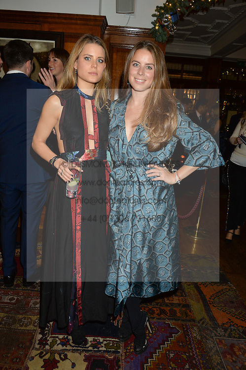 LONDON, ENGLAND 1 DECEMBER 2016: Left to right, Irene Forte, Lydia Forte at the Smythson & Brown's Hotel Christmas Party held at Brown's Hotel, Albemarle St, Mayfair, London, England. 1 December 2016.
