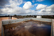 A swiming pool on the roof of a building in one of Qadaffi's farms in Benghazi on March 1, 2011.