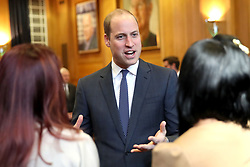 The Duke of Cambridge meets runners at Old Broadcasting House in London during the screening event for the BBC's documentary 'Mind over Marathon'.