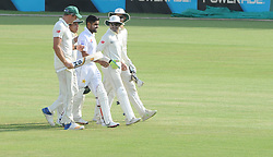 Johannesburg 20-12-18. South Africa Invitation XI vs Pakistan three-day match at Sahara Willowmoore Park, Benoni. Day 2.  Pakistan batsman Babar Azam is congratulated by the SA Invitation XI team after his century coming during the afternoon session. Picture: Karen Sandison/African News Agency(ANA)