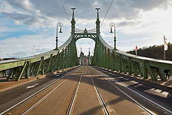 The Liberty bridge, Budapest, Hungary