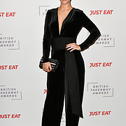 Frankie Bridge attends the British Takeaway Awards, in association with Just Eat at London's Savoy Hotel on 12 November 2018, London, UK.