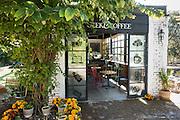 Geek & Coffee cafe at Fabrica La Aurora in San Miguel de Allende, Mexico.