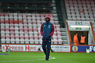 West Ham United Defender, Angelo Ogbonna (21) checks the pitch before kick off during the Premier League match between Bournemouth and West Ham United at the Vitality Stadium, Bournemouth, England on 19 January 2019.