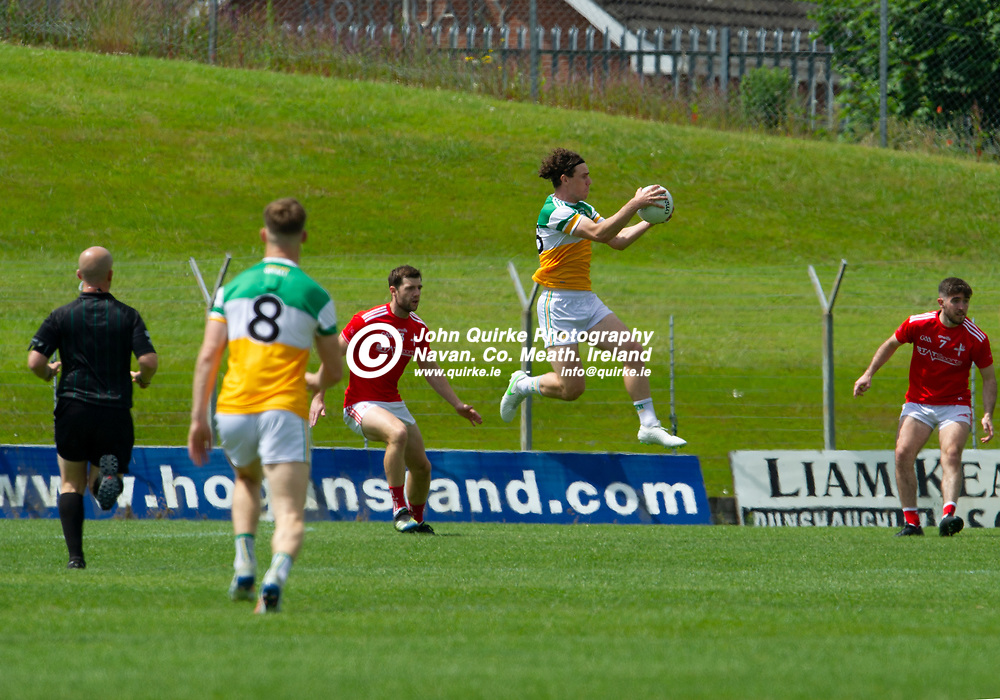 27-06-21. Offaly v Louth - Leinster Senior Football Championship at Pairc Tailteann, Navan.<br /> Niall McNamee Offaly in full flight against Louth.<br /> Photo: John Quirke / www.quirke.ie<br /> ©John Quirke Photography, 16 Proudstown Road, Navan. Co. Meath. (info@quirke.ie / 046-9028461 / 087-2579454).