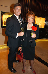 TV presenter and Founder of ChildLine ESTHER RANTZEN and MICHAEL BOWEN at a party to ceebrate the bublication of 'The Ravenscar Dynasty' by Barbara Taylor Bradford hld at the newly opened Mousaieff Store, 172 New Bond Street, London on 28th September 2006.<br /><br />NON EXCLUSIVE - WORLD RIGHTS