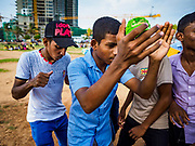 05 OCTOBER 2017 - COLOMBO, SRI LANKA: Sri Lanka young people dance and party on Galleface, a popular public beach in Colombo.    PHOTO BY JACK KURTZ