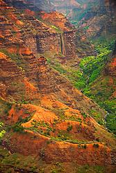 Waimea River and Waimea Canyon, Kauai, Hawaii