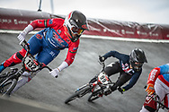 #132 (SMITH Jessie) NZL at Round 6 of the 2019 UCI BMX Supercross World Cup in Saint-Quentin-En-Yvelines, France