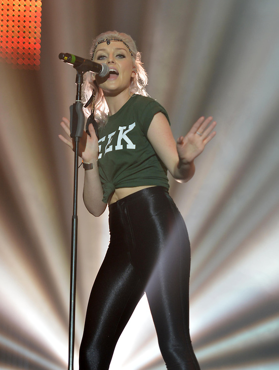 Girlguiding Gig Sheffield Motorpoint Arena Sat 6th <br /> Little Mix Perrie Edwards<br /> Pix dave Nelson