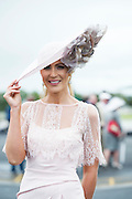 30/07/2015 report free : Winners Announced in Kilkenny Best Dressed Lady, Kilkenny Best Irish Design & Kilkenny Best Hat Competition at Galway Races Ladies Day <br /> At the event was Mary Lee Model<br /> Photo:Andrew Downes, xposure