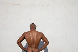 back of a muscular African American man
