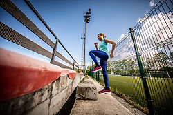 Slovenian athlete Marusa Mismas Zrimsek during practice session after loosening coronavirus COVID-19 restriction, on May 3, 2020 in Stadion Kodeljevo, Ljubljana, Slovenia. Photo by Vid Ponikvar / Sportida