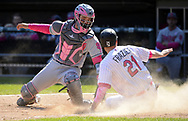 CHICGO - MAY 14:  Todd Frazier #21 of the Chicago White Sox slides home safely in the eighth inning against the San Diego Padres on May 14, 2017 at Guaranteed Rate Field in Chicago, Illinois.  The White Sox defeated the Padres 9-3 .  (Photo by Ron Vesely)  Subject: Todd Frazier