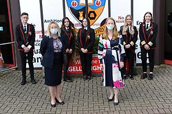 Lochgelly High School Exam results<br /> <br /> Lochgelly Head teacher Debbie Aitkin  and Shirley-Anne Somerville with some of the students<br /> <br /> (c) David Wardle | Edinburgh Elite media
