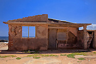 Hurricane damaged house in Gibara, Holguin, Cuba.