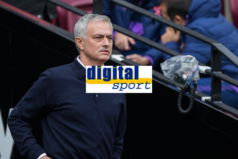 Football - 2019 / 2020 Premier League - West Ham United vs. Tottenham Hotspur<br /> <br /> Jose Mourinho, Manager of Tottenham FC, emerges from the tunnel on his return to the Premier League at the London Stadium<br /> <br /> COLORSPORT/DANIEL BEARHAM
