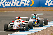 Race leader Carter Williams(USA) JHR Developments during the FIA Formula 4 British Championship at Knockhill Racing Circuit, Dunfermline, Scotland on 15 September 2019.