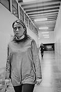 Giorgia Meloni percorre i corridoi del Palazzo dei Congressi durante la manifestazione organizzata dal Movimento Fratelli d'Italia Centrodestra nazionale. Roma, 26 gennaio 2013. Christian Mantuano /  Oneshot