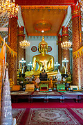 Interior view  of Wat Inpeng, Vientiane, Laos.