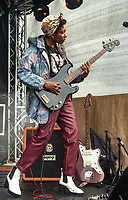 Big Joanie  live at the  Bigfoot Festival   Ragley Hall Warwickshire one of the first festivals to open successfully in 2021,photo by Mark Anton Smith