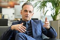 24 JUL 2020, BERLIN/GERMANY:<br /> Heiko Maas, SPD, Bundesaussenminister, waehrend einem Interview, in seinem Buero, Auswaertiges Amt<br /> IMAGE: 20200724-01-014<br /> KEYWORDS: Buero