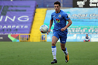 Scott Duxbury during the FA Cup fixture between Stockport County and Corby Town at Edgeley Park on 6 October 2018 / James Gill Media